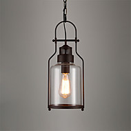 billige Takbelysning og vifter-loft vintage glass anheng lys svart metall spisestue anheng lys bar klær butikk lysarmatur
