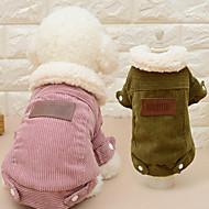 Kat Hund Frakker Hundetøj Ensfarvet Kaffe Lys pink Plys Stof Kostume For kæledyr Herre Dame Afslappet/Hverdag Mode