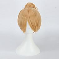 Vrouw Synthetische pruiken Middel Recht  Blond Cosplaypruik Halloween Pruik Carnaval Pruik Kostuumpruik