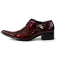 גברים נעליים עור אביב קיץ סתיו חורף נוחות חדשני נעלי אוקספורד הליכה שרוכים מפרק מפוצל עבור חתונה מסיבה וערב לבן שחור אדום