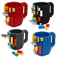 băutură clădiri blocuri cani diy bloc puzzle cană caneca build-on brick cupa cana cafea cana