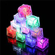 cheap Holiday Decorations-12Pcs Color Changing Ice Cubes Led Light Party Wedding Christmas Bar Restaurant