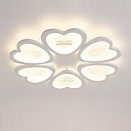 billige Taklamper-6-hjerte hjerteformet design moderne stil akryl enkelhet ledet taklampe metall flush mount stue lysarmatur