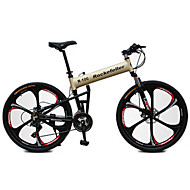 Χαμηλού Κόστους -Ποδήλατο Βουνού / Αναδιπλούμενα ποδήλατα Ποδηλασία 21 Ταχύτητα 26 ίντσες / 700CC Shimano Δισκόφρενο Πιρούνι Ανάρτησης Αντιολισθητικό Ατσάλι