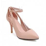 Mujer Zapatos Terciopelo / Materiales Personalizados / Semicuero Verano Confort / Zapatos del club Sandalias Tacón Stiletto Puntera abierta Hebilla Negro / Arco Iris / Rosa WLN0tJh
