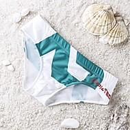 Pánské Jednobarevné Kalhotky Plavky Šněrování Nylon Spandex Bílá