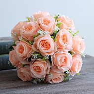 18Heads/Bouquet Silk Roses Wedding Site Layout Arch Guide Decorate Artificial Flowers