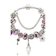 Pulseiras com Pendentes Natureza Moda Caixas de presente e Bolsas bijuterias Cristal Liga Formato de Flor Torre Jóias Para Casamento