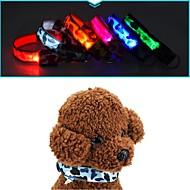 犬 カラー LEDライト アンチ犬叫 カモフラージュ ナイロン イエロー レッド グリーン ブルー ピンク