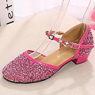 billige Moderne sko-Sko til latindans Blonder / Glimtende Glitter / Paljett Flate / Sandaler / Høye hæler Innendørs / Ytelse / Trening Rhinsten / Krystall /