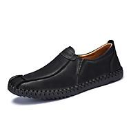 Herre-Lær-Flat hæl-Lette såler-一脚蹬鞋、懒人鞋-Fritid