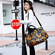 Women Bags All Seasons Oxford Cloth Nylon Travel Bag for Casual Sports Formal Outdoor Office & Career Green Orange