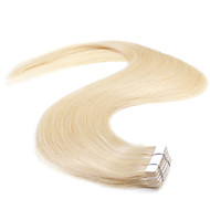 Neitsi 20'' 50g Tape in Human Hair Extensions 5A Grade 20Pcs Straight Skin Weft Extensions  Blonde#613