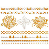 cheap Tattoo Stickers-1 Waterproof Jewelry Series Tattoo Stickers
