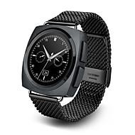 スマートwatchfashionのwatchmetal&革のハートレートモニターアンドロイドIOS互換性のあるスマートリストバンド時計