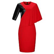 Žene Veći konfekcijski brojevi Bodycon Haljina - Čipka, Cvjetni print Color block