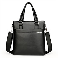 Men Bags PU Tote for Casual Office & Career All Seasons Black Brown