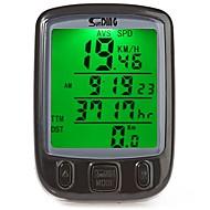 사이클링 산악 자전거 자전거 디지털 장비 Tme - Lapsed Time Av - 평균 속도 주행 기록계 SPD - 현재 속도 주행 거리계(오도미터) 백라이트 블랙 블루 옐로 ABS