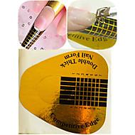 1 sæt 50stk guld nail art sticker kits nail art manicure værktøj til polsk / uv gel anti-overflow mærkat praktisk værktøj