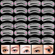 cheap Makeup Tools & Accessories-Makeup Tools Eyebrow Stencil Professional / Convenient Makeup 24 pcs Silicone Eyebrow Classic / Fashion Daily Cosmetic Grooming Supplies
