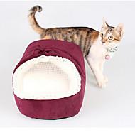 Kedi Köpek Yataklar Evcil Hayvanlar Mat & Pedler Solid Miękki Kırmzı Yeşil