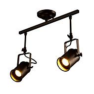billige Spotlys-vintage taklampe, 2-lys industriell lampe til stue, spisestue bar foajé hallway klær butikk spotlights