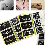 OTHERS-Non Toxic Mintás-Glitter Tattoo StencilsPapír-Fekete-Baba Gyerek Női Girl Férfi Felnőtt Boy Tini-Csillámos tetoválás