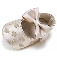cheap Baby Shoes-Children's Baby Shoes Leatherette Spring Fall First Walkers Flats Bowknot Hook & Loop for Wedding Casual Outdoor Party & Evening Dress