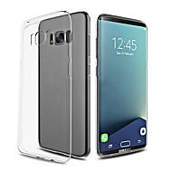 Etui Käyttötarkoitus Samsung Galaxy S8 Plus S8 Ultraohut Läpinäkyvä Takakuori Yhtenäinen väri Pehmeä TPU varten S8 S8 Plus