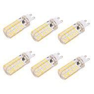 billige Kornpærer med LED-BRELONG® 6pcs 6 W 550 lm G9 / E26 / E27 LED-kornpærer T 80 LED perler SMD 5730 Mulighet for demping / Dekorativ Varm hvit / Kjølig hvit 220-240 V / 110-130 V / 6 stk. / RoHs / CE