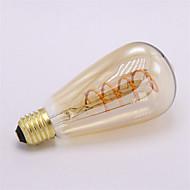 3W E26/E27 Lâmpadas de Filamento de LED ST64 1 COB 300-350 lm Branco Quente 2300 K Regulável Decorativa AC 220-240 V