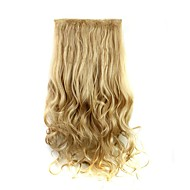 Clip In Hair Extensions Hairpiece 23inch 58cm 110g Curly Wavy Hair Extension Synthetic Heat Resistant  D1010 27/613#