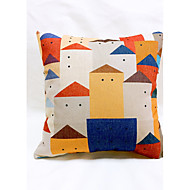 cheap Pillow Covers-1 pcs Linen Sofa Cushion Travel Pillow Body Pillow Pillow Case Novelty Pillow, Graphic Prints Casual Outdoor Accent/Decorative Country