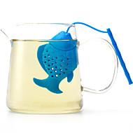 Die Silikonfische machen Tee-Modeartikel für den täglichen Gebrauch kreative Farbe zufällig