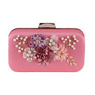 baratos Clutches & Bolsas de Noite-Mulheres Bolsas Poliéster Bolsa de Festa Flor de Cetim Sólido Rosa Pálido / Damasco / Bege