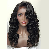 Women Human Hair Lace Wig Full Lace Wigs 130% Density With Baby Hair Wavy Wigs Brazilian Hair Dark Black Black Dark Brown Medium Brown