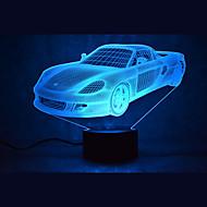 1 kom. 3D noćno svjetlo Više boja USB Szenzor Zatamnjen Vodootporno Promjenjive boje