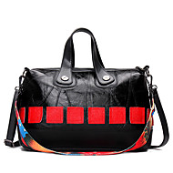 Women Bags All Seasons Cowhide Shoulder Bag Rivet for Wedding Event/Party Casual Formal Office & Career Black