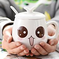 Neuartige Zeichentrick Gehen Trinkbecher, 400 ml Dekoration Freundin Geschenk Keramik Kaffee Milch Kaffeetassen