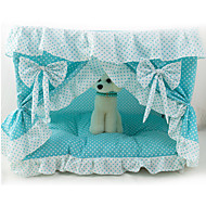 Cat Dog Bed Pet Covers Bowknot Foldable Blue Blushing Pink