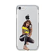 billiga Mobil cases & Skärmskydd-fodral Till Apple iPhone X iPhone 8 Genomskinlig Mönster Skal Sexig kvinna Mjukt TPU för iPhone X iPhone 8 Plus iPhone 8 iPhone 7 Plus