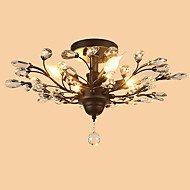 cheap Ceiling Lights-LightMyself™ Flush Mount Ambient Light - Crystal Designers, Rustic / Lodge Traditional / Classic, 110-120V 220-240V Bulb Not Included