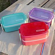 Candy farve dobbelt lag madpakke med gennemsigtig pot dot låg dække tilfældig farve