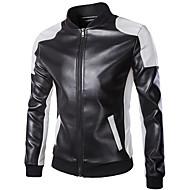 אופנוע בגדים ג'קט ל עור PU כל העונות עמיד ברוח