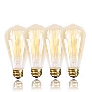billige Glødelampe-GMY® 4stk 40W E26/E27 ST64 2300 K Glødende Vintage Edison lyspære AC 220-240V V