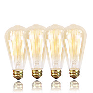 billige Glødelampe-gmy® ST64 edison vintage pære 220-240 40w e27 rav varme hvite dekorative dimbare 4pcs