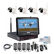cheap NVR Kits-Strongshine® Wireless IP Camera with 960P/Infrared/Waterproof and NVR with 10.1Inch LCD Combo Kits