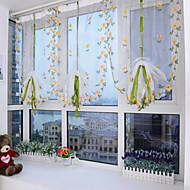 cheap Sheer Curtains-Sheer Curtains Shades Living Room Polyester Embroidery