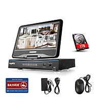 Sannce® 10,1 lcd 8ch digitální videorekordér spports analog ahd tvi 720p kamery bezpečnostní systém s 1tb hdd