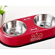 犬 フィーダ ペット用 ボウル&摂食 ベージュ レッド